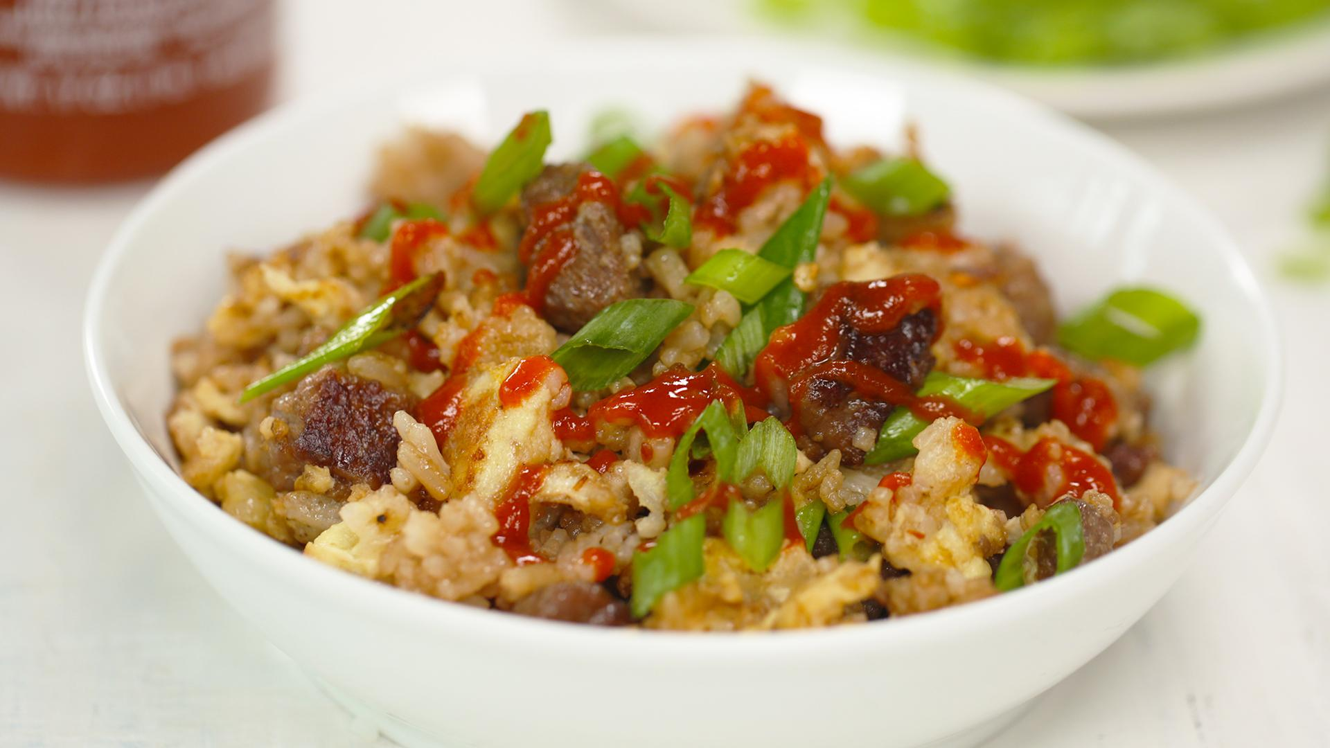 Beef Crumble Fried Rice