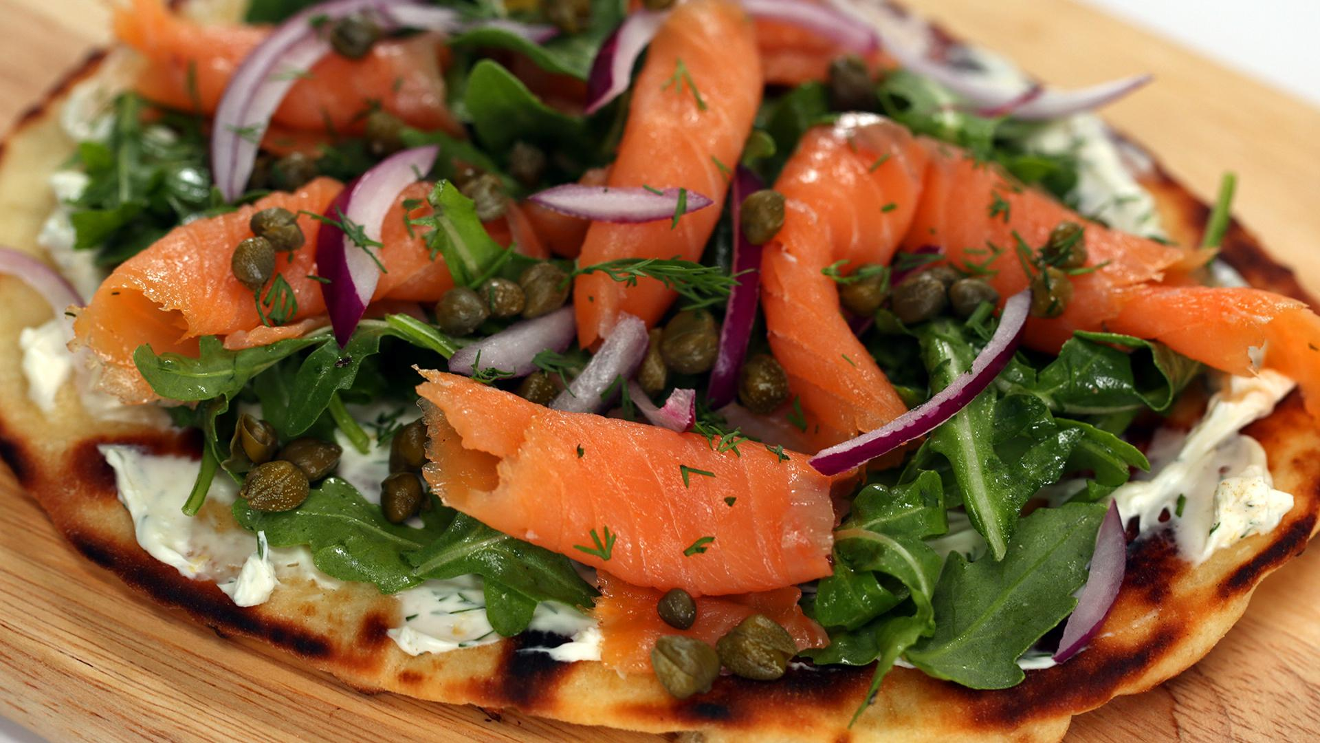 Individual Smoked Salmon Pizza