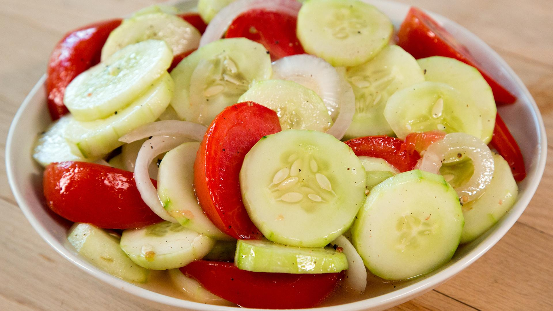 Marinated Cucumber-And-Tomato Salad