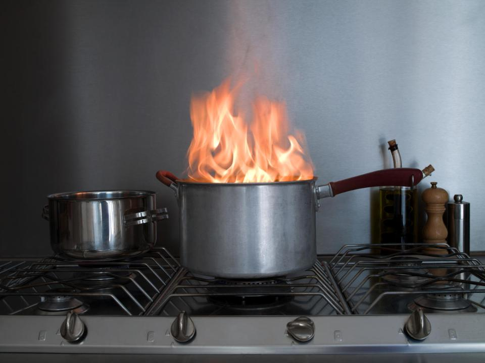 Kitchen Fires by Cooking