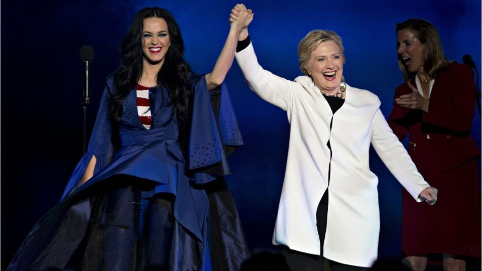 130ca69ea7f Hillary Clinton wore the heels Katy Perry designed for her (and here s  where to buy  em!) - HelloGiggles