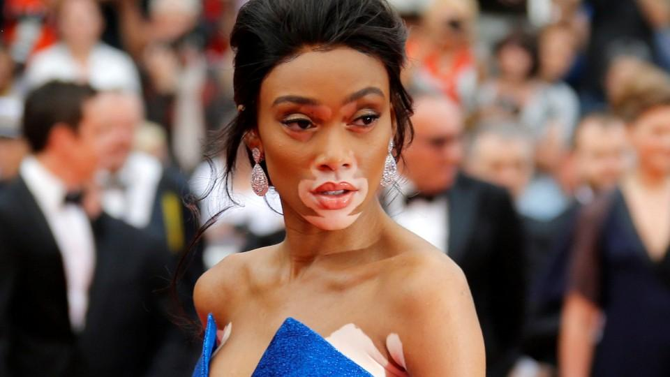 6f2f7daadeb90 Winnie Harlow looks like she s off to a royal ball in a gown fit for a  fairy tale princess at Cannes - HelloGiggles