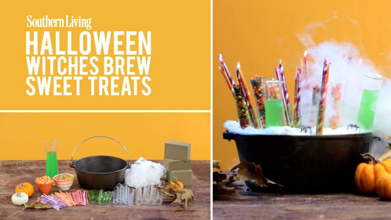 How To Make A Halloween  Witches Brew  Candy Display