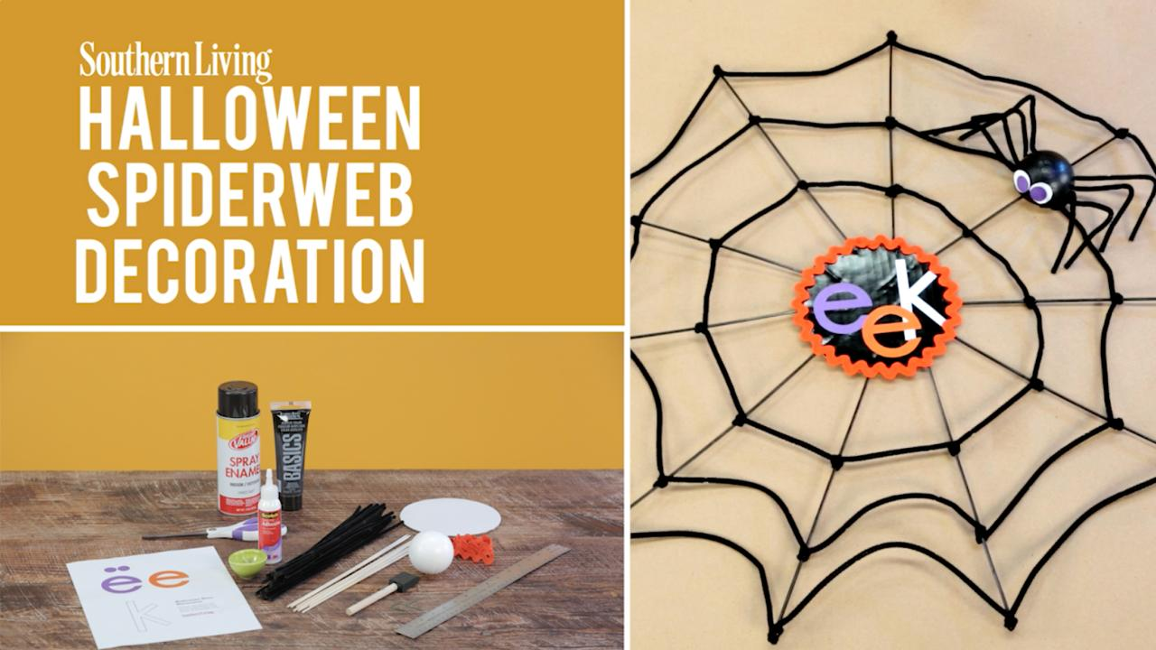 halloween spiderweb decoration southern living