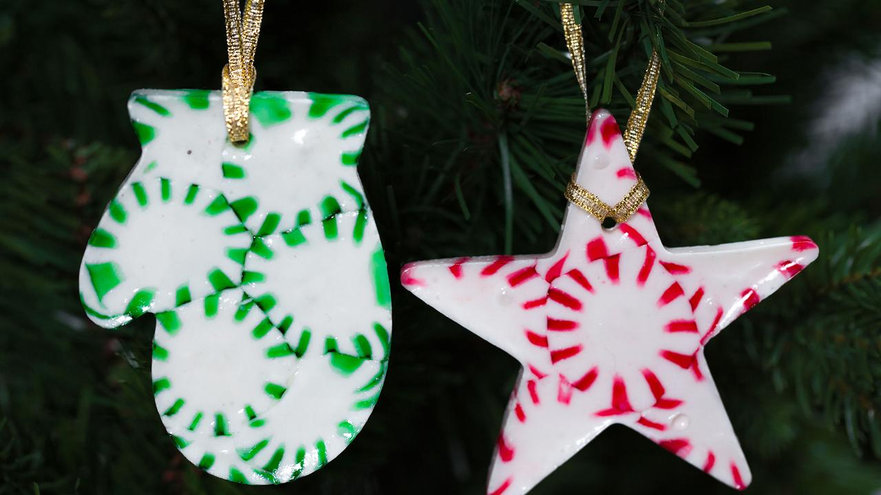 DIY Peppermint Christmas Tree Ornaments