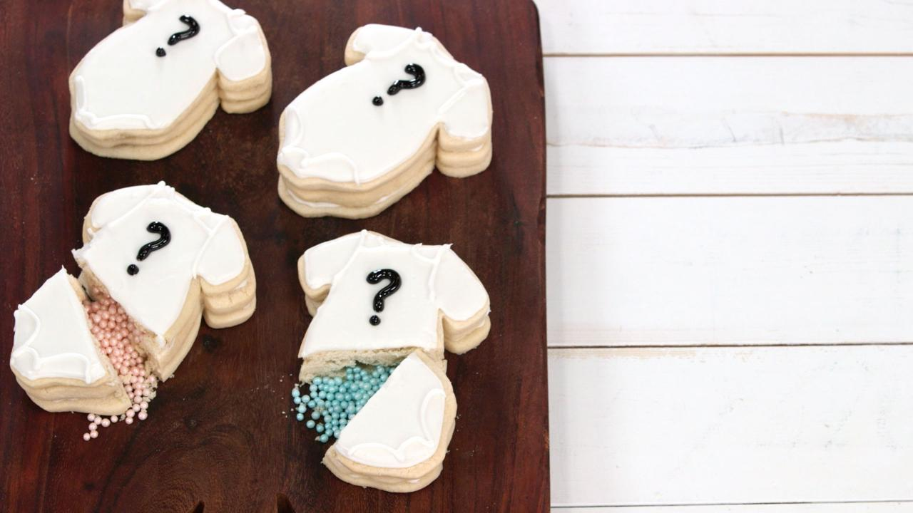 Gender Reveal Confetti Cookies