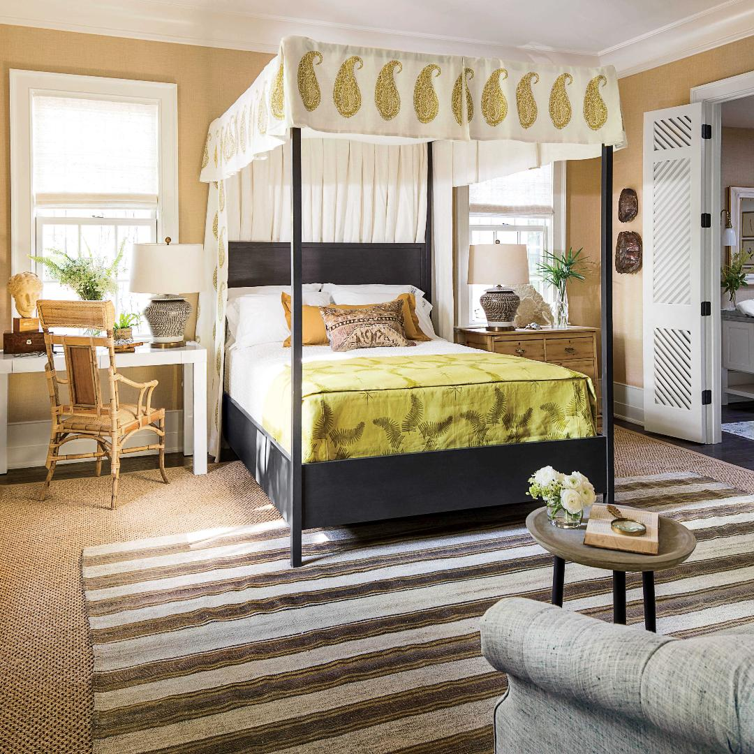 """20 Decorating Ideas From The Southern Living Idea House: """"The Goodbye Blank Slate"""" Modern Bedroom Makeover"""