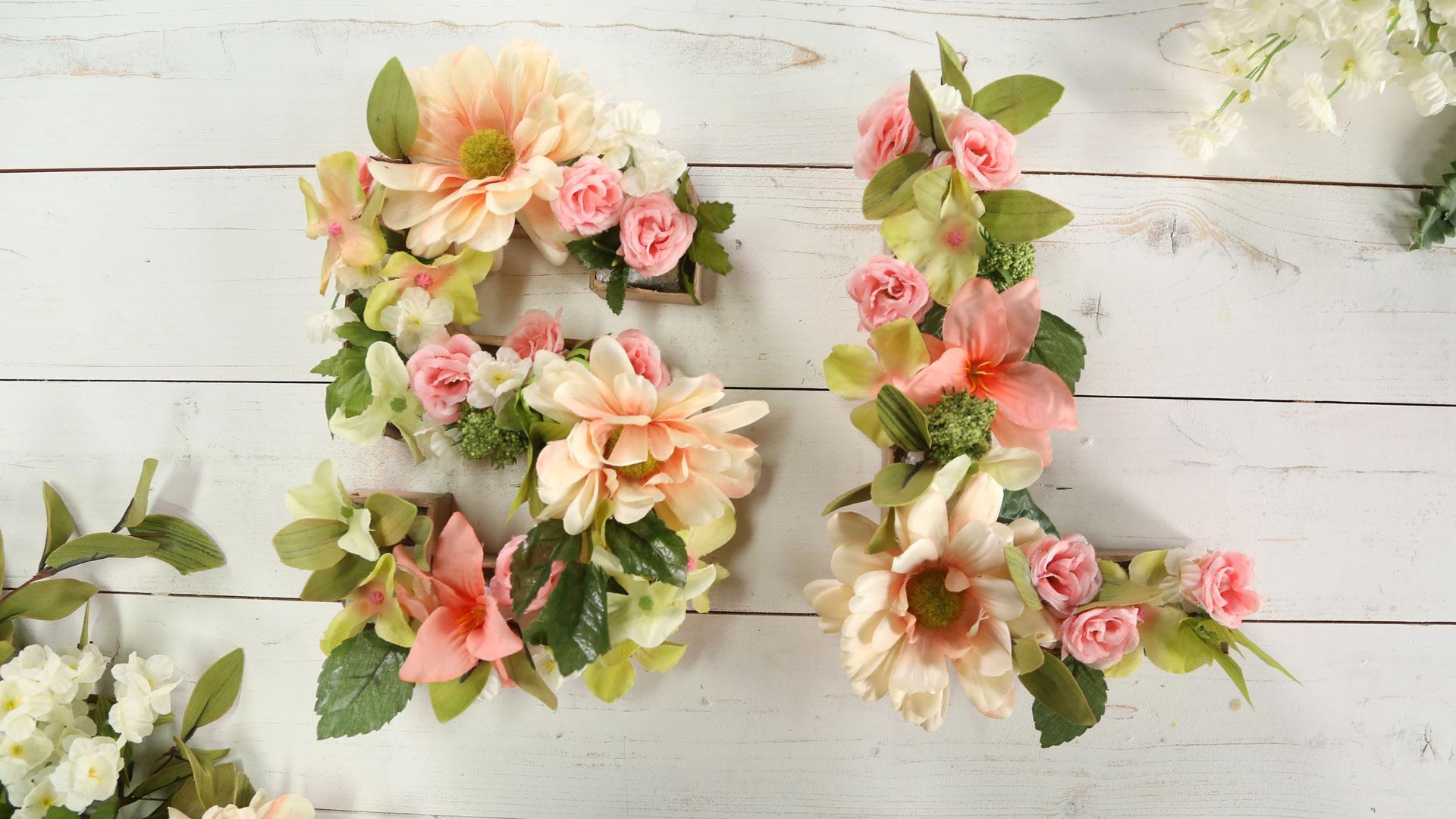 Diy 3d Floral Letter Southern Living