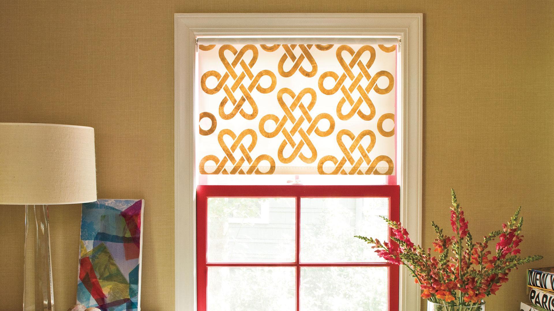 Stenciled Window Shade