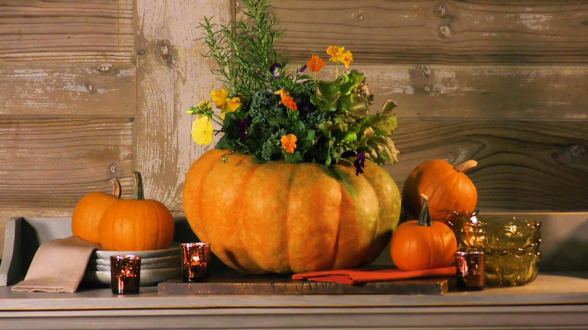 How To Make A Blooming Pumpkin: