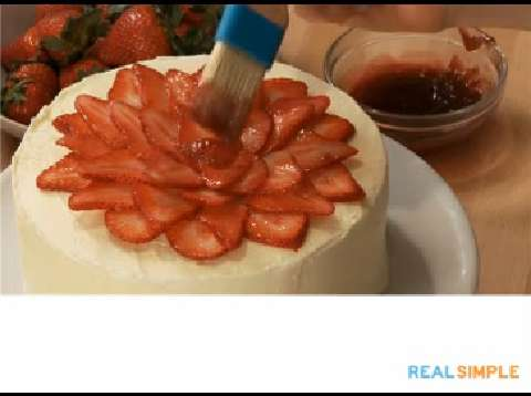 & How To Decorate a Cake With Strawberries