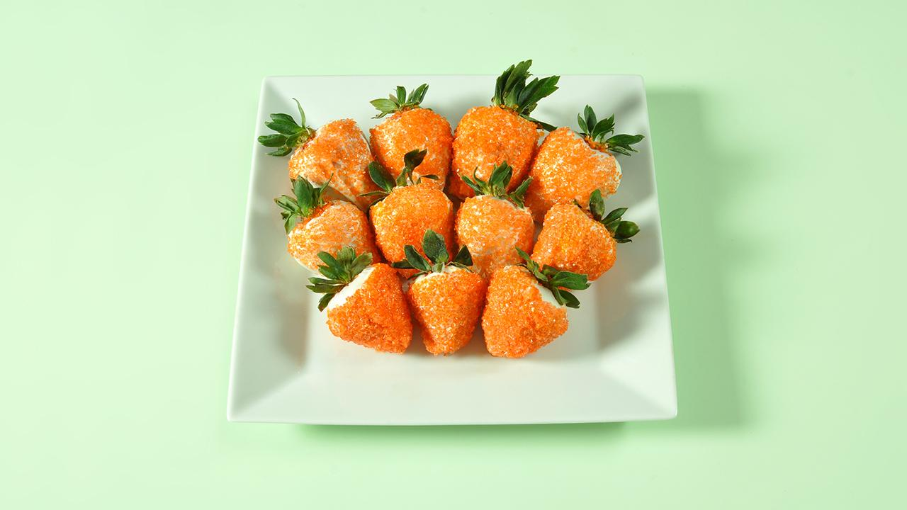 White Chocolate Strawberry 'Carrots'