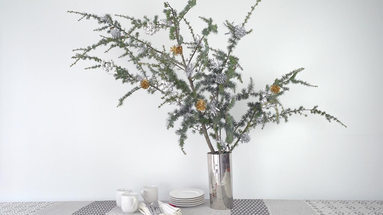 Small Silver Christmas Tree.Video Small Christmas Tree Decorating Tips Real Simple