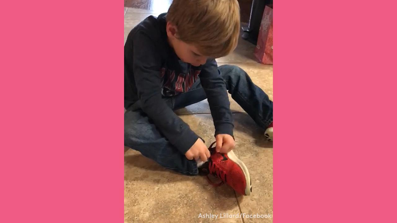 You Have To See This 5-Year-Old's Hack For Tying Shoes
