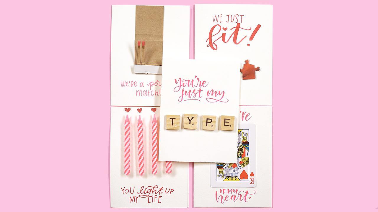 5 Adorable Valentine's Day Cards Made From Everyday Items