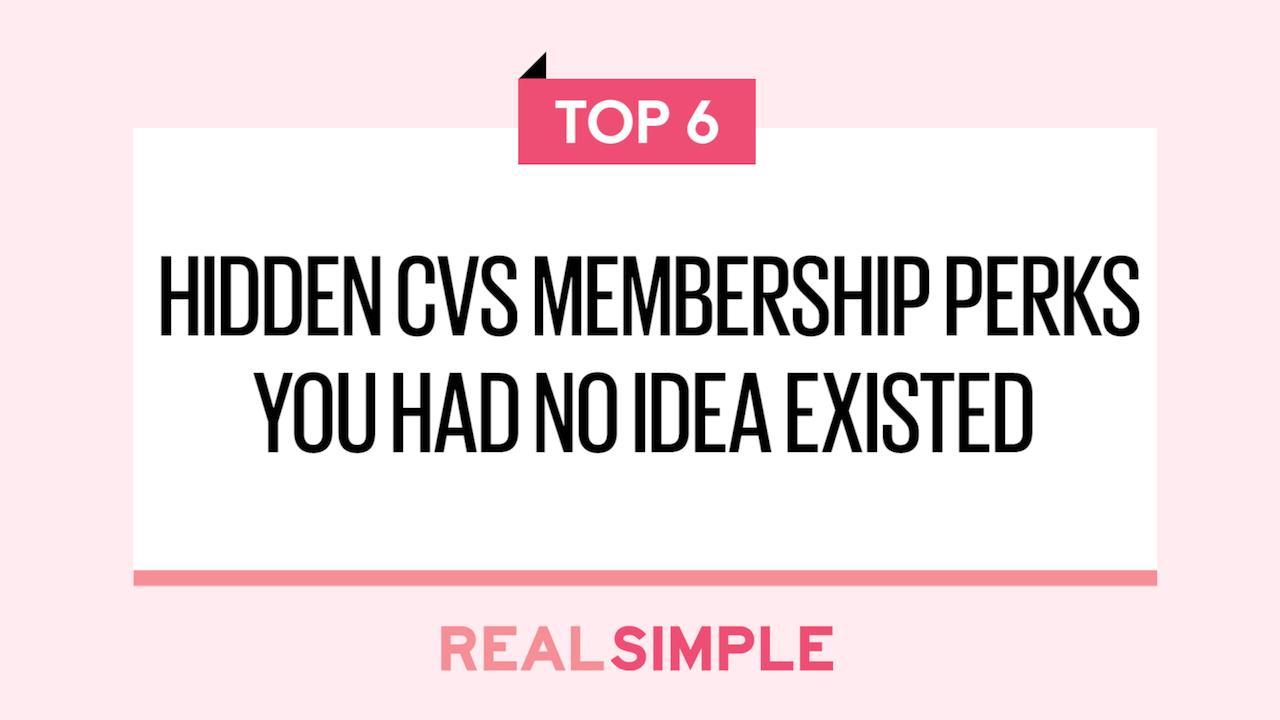 6 Hidden CVS Membership Perks You Had No Idea Existed | Real