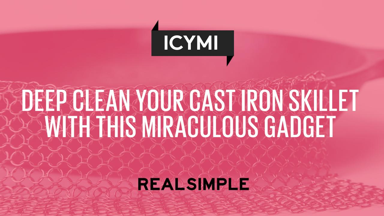 Deep Clean Your Cast Iron Skillet With This Miraculous Gadget