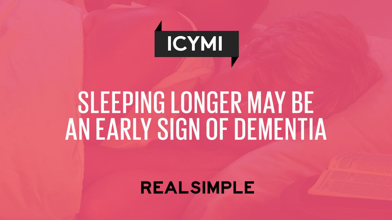 Sleeping Longer May Be an Early Sign of Dementia