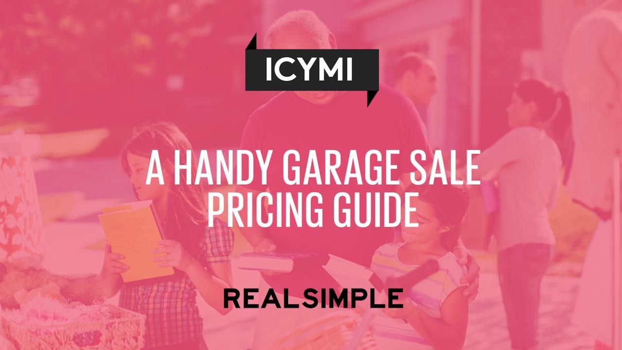 f3d3de0087 A Handy Garage Sale Pricing Guide - Real Simple