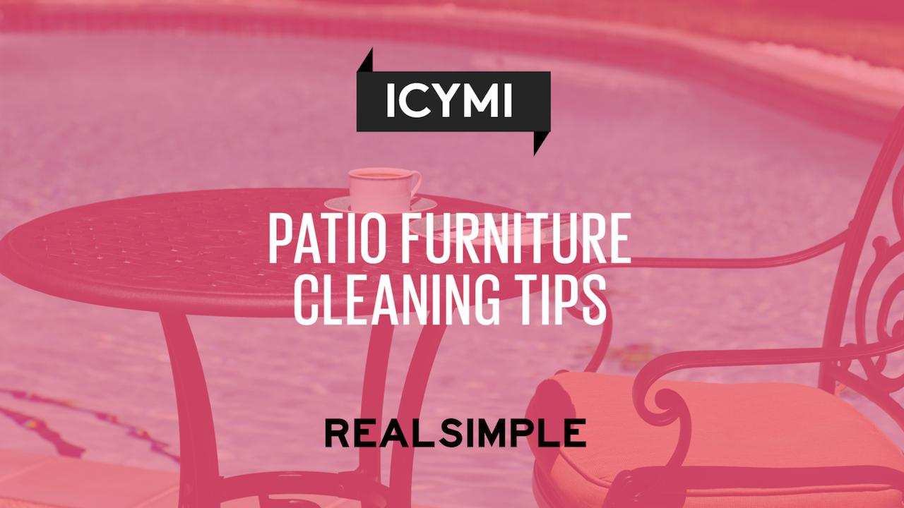 A Guide To Cleaning Patio Furniture Real Simple
