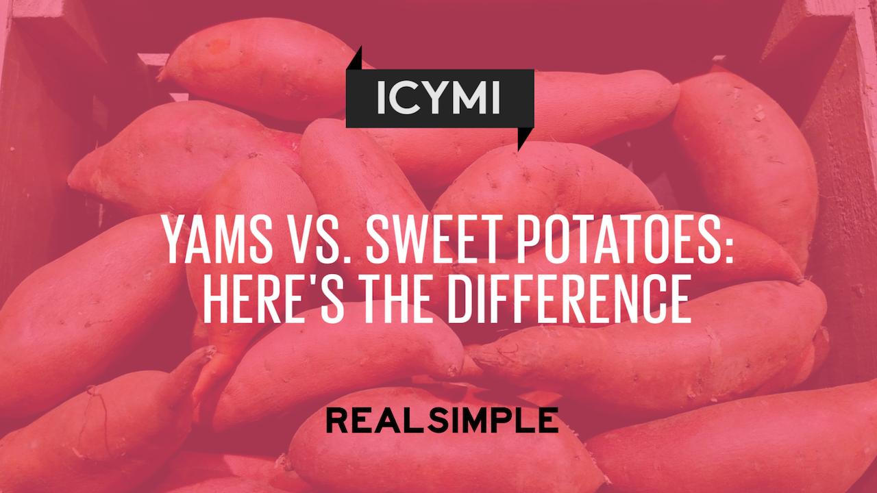 Yams vs  Sweet Potatoes: Here's the Difference | Real Simple