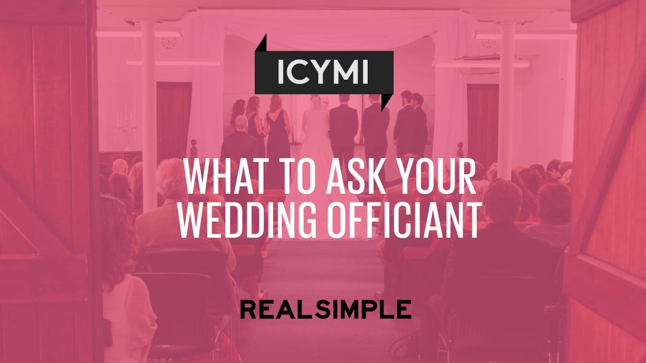 What To Ask Your Wedding Officiant Real Simple