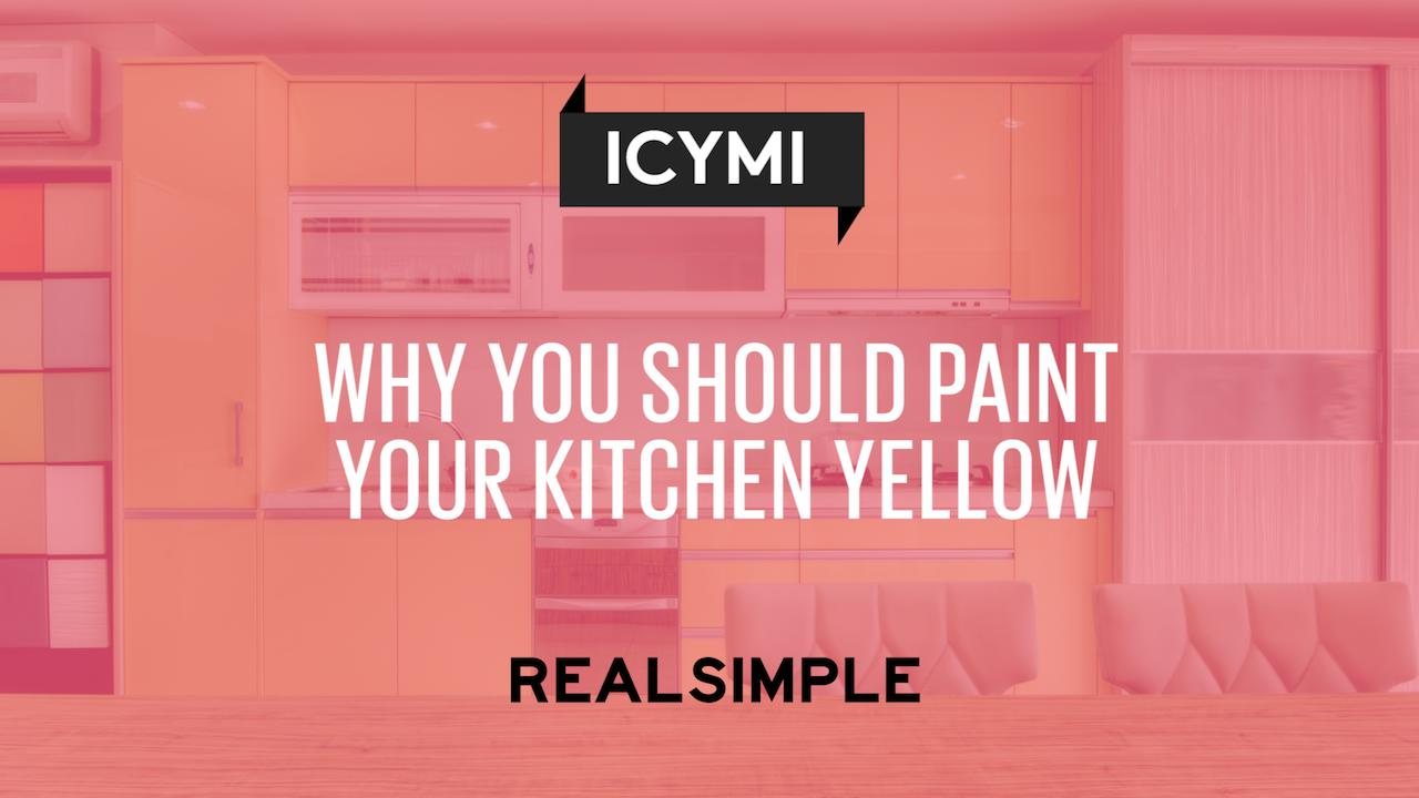 Why You Should Paint Your Kitchen Yellow | Real Simple