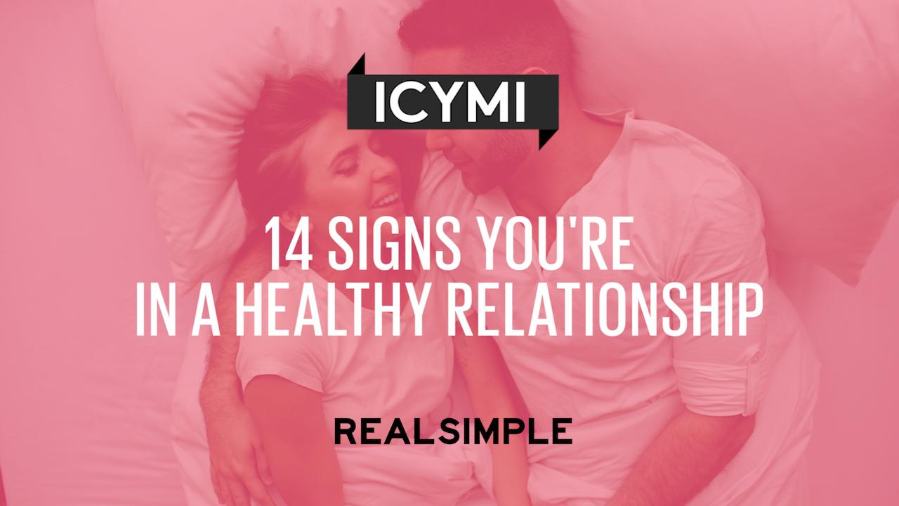 14 Signs You're in a Healthy Relationship | Real Simple