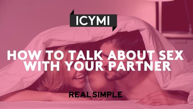 Not how to talk about sex with your partner