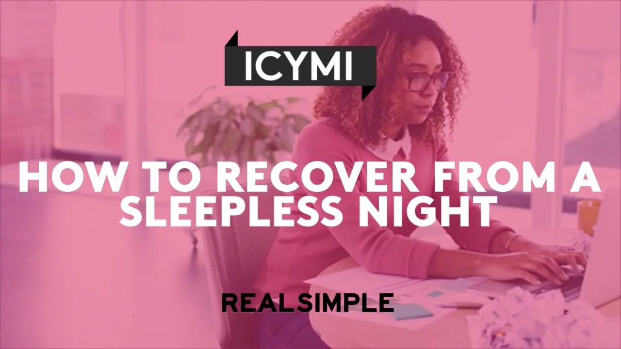 How to Recover After a Sleepless Night