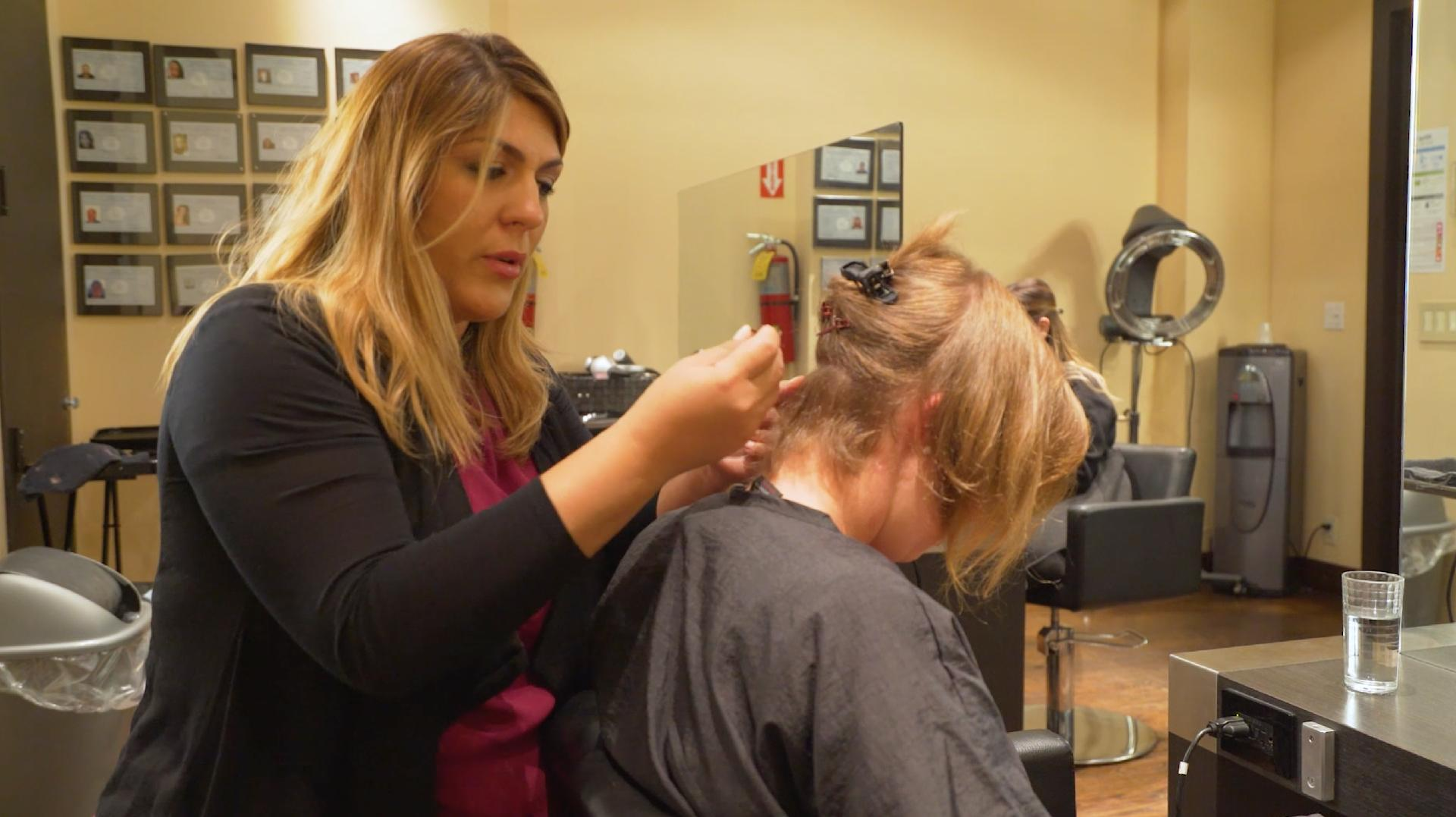 Watch the Moment a Woman Sees Her New Hair Extensions After 16 Years