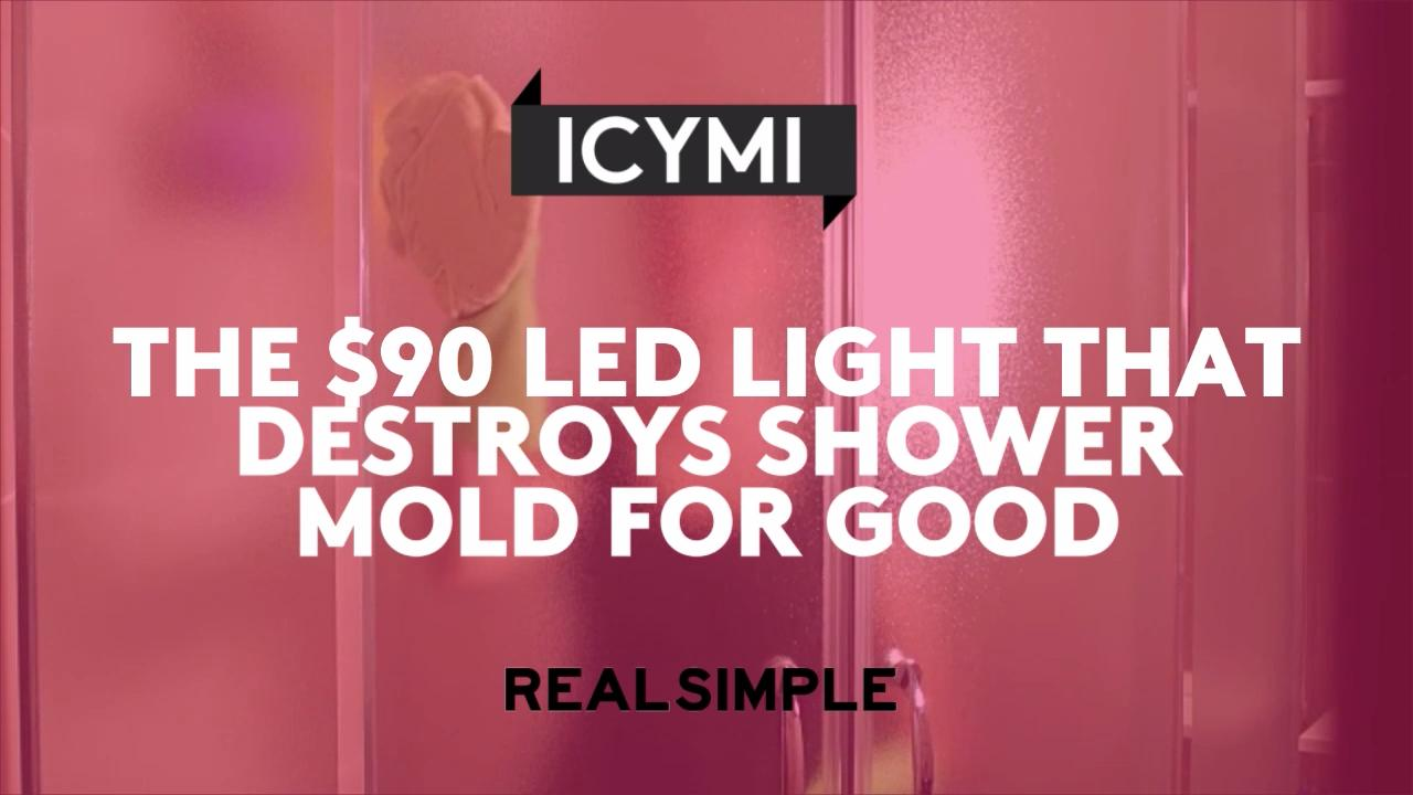 The $90 LED Light That Destroys Shower Mold for Good