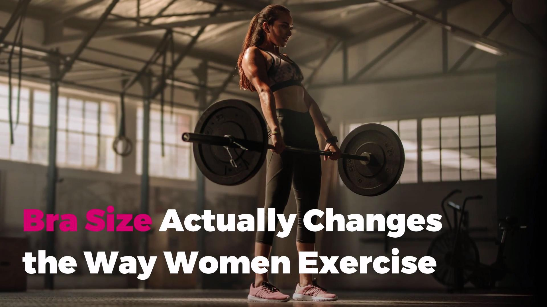 Bra Size Actually Changes the Way Women Exercise