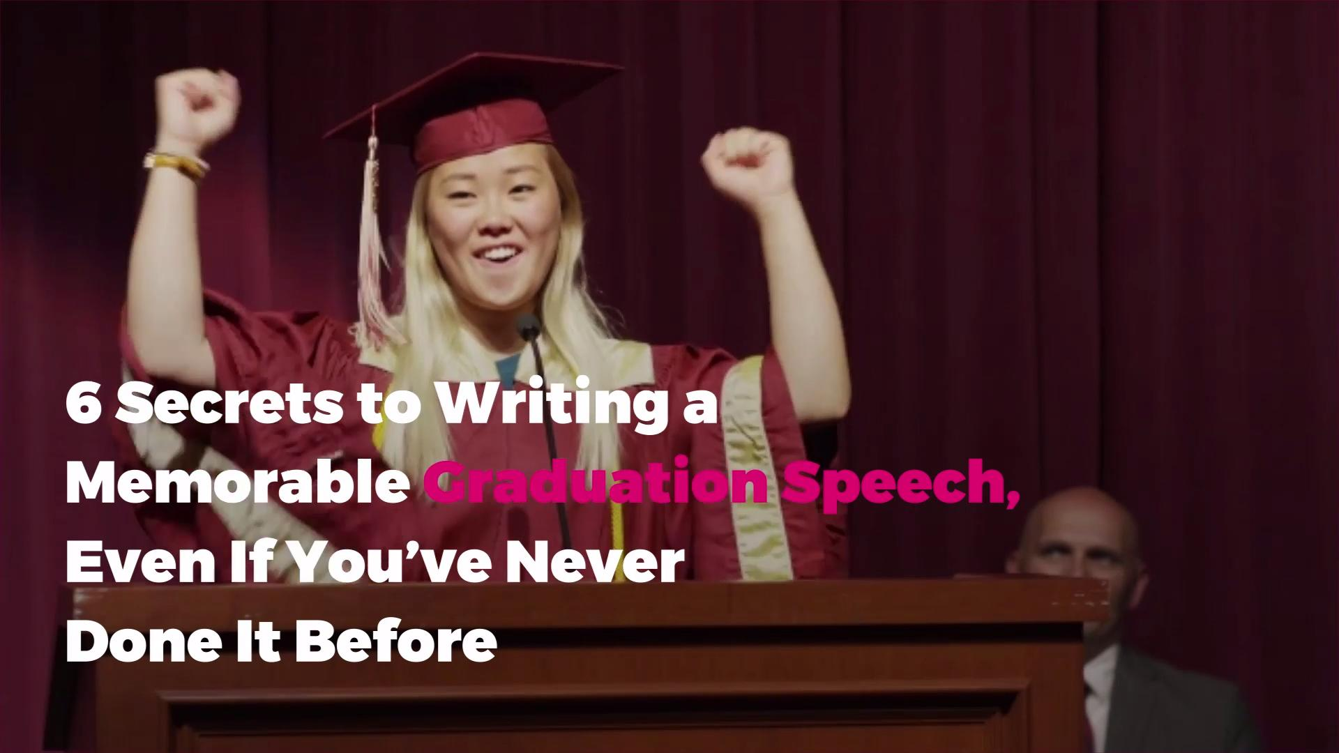 How to Write a Graduation Speech Everyone Will Remember