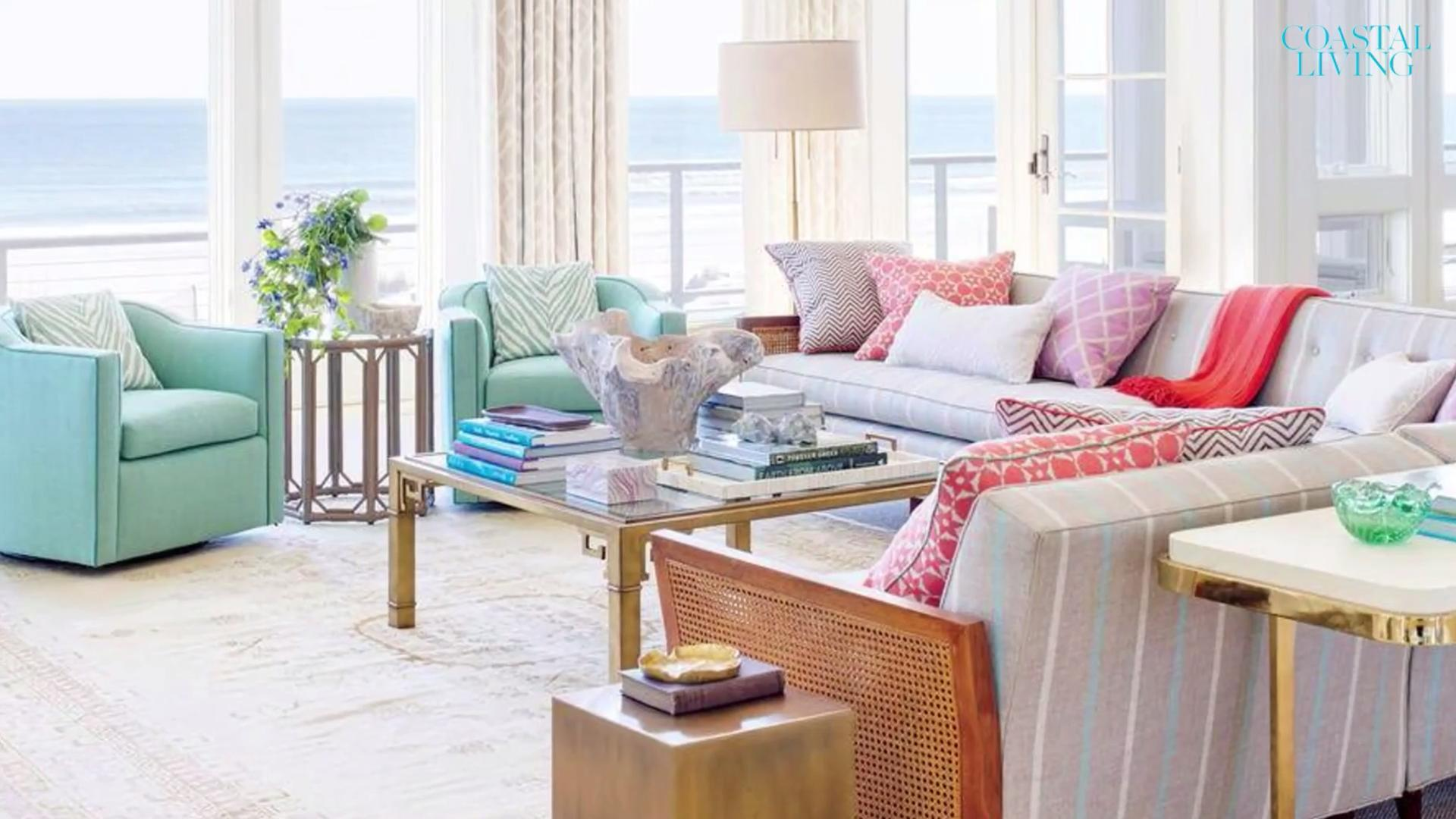 These Living Rooms Have Bright, Coastal Style